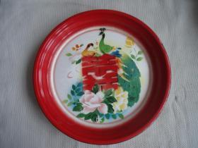孔雀搪瓷盘子