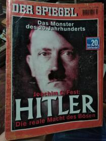DER  SPIEGEL(1999年德语原版杂志,封面是希特勒头像)