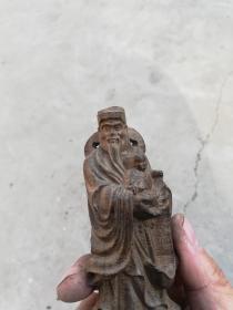 沉香木财神高14厘米*5厘米*5厘米