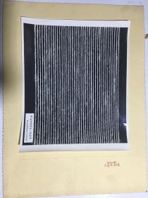 1974年杭州大华照相馆老照片:麻袋纬纱一类标样