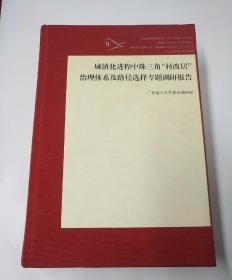 """城镇化进程中珠三角""""村改居""""治理体系及路径选择专题调研报告"""