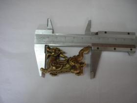 《铜貔貅摆件》,高3.3厘米,宽6厘米,N323号10品,铜器