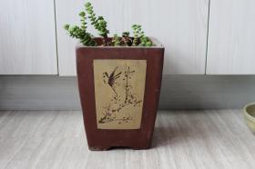 早期紫砂盆——签筒