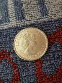 香港硬币。1971年发行。面值五毫。