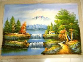 一副名人山水油画.3.