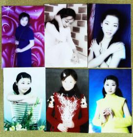 青春美少女彩色照片12张高12.5厘米宽8.5厘米 m78