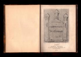 《所罗门的大钥匙》(Clefs majeures et clavicules de Salomon) Eliphas Levi 手稿 魔典 魔法书 实体书 1895年