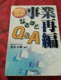 原版日本日文书  事业再编(实物拍照