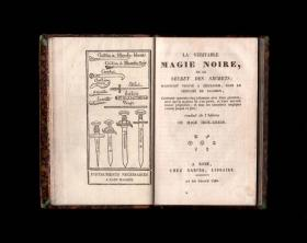 《真正的黑魔法》 (La Véritable Magie Noire) 1750年 手稿 魔法书 法本 魔典 实体书