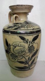 清代-民国;耀州窑青花文字、牡丹花卉、蝙蝠纹---酒墩子(包真老货)