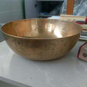 老铜碗,口直径约14.7㎝,高约5㎝