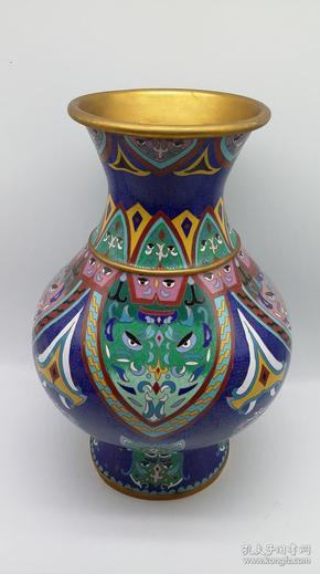 景泰蓝花瓶一件