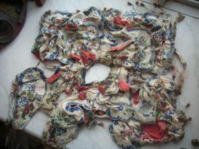 清代五彩绣---人物花卉披肩.包老到代.尺寸50/50厘米