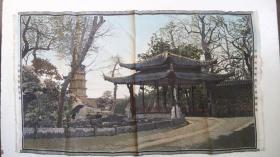 解放前后中国杭州都锦生丝织厂出品《西湖灵隐逥龙桥》丝织画(稀有少见品)