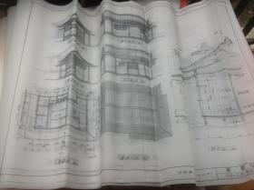 买满就送  11张茶室设计图纸  平面,立面,矩计图   很珍贵