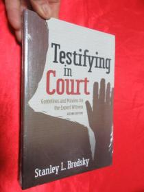 Testifying in Court: Guidelines and Maxims for the Expert Witness   (小16开) 【详见图】,全新未开封