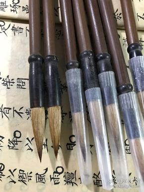 八九十年代成珍牌湖笔厂出品中兰竹狼毫笔