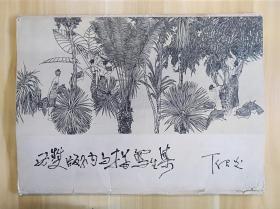 【ZHJCS·HJ】·【私人珍藏·近全新】·云南人民出版社·丁绍光·《丁绍光—西双版纳白描写生集》·内活40页全·1979年·一版一印