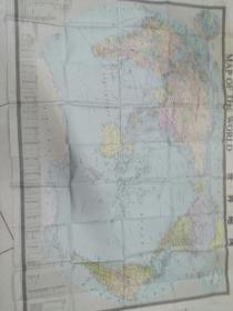 世界地图(中外两种文字,