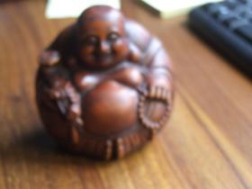黄杨木雕弥勒佛摆件