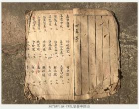 Z075#P158-Y#九皇奏申头由/清代古籍善本/孤本手抄本
