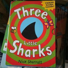 THREE LITTLE SHARKS 三只小鲨鱼 3本合售 附盒 32开