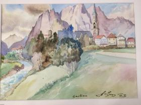 西洋 欧洲 德国 水彩画 021 40x30cm 28x20cm 手绘 原稿 创作时间不详