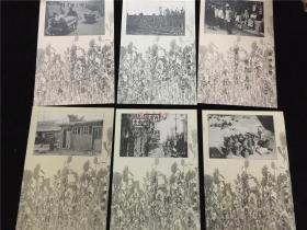 侵华史料《满洲情诗》明信片6张