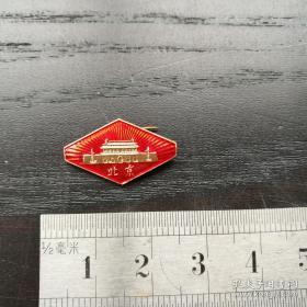 【珍罕 毛主席金色像章】文革毛主席像章 北京 红色
