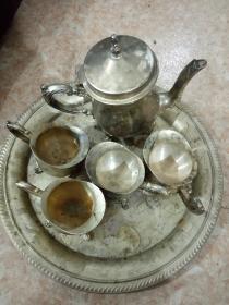 九五年铜鎏银酒壶酒杯一套