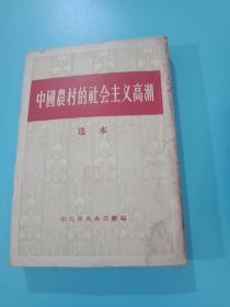 中国农村的社会主义高潮选本(版权页少一书角)