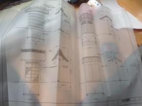 买满就送 5张茶室设计图纸 其中 中门的种类两张 寄栋三张(复印件) 很珍贵