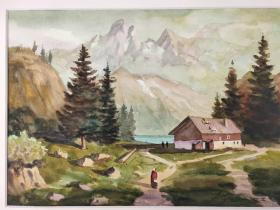西洋 欧洲 德国 水彩画 023 40x30cm 28x20cm 手绘 原稿 创作时间不详