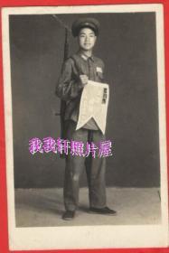 老照片:背枪,拿锦旗的解放军【胜乐灿烂系列】