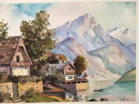 西洋 欧洲 德国 水彩画 026 40x30cm 28x20cm 手绘 原稿 创作时间不详