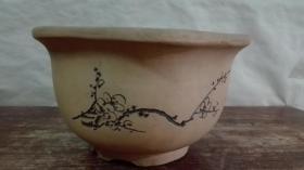 紫砂海棠口盆一个