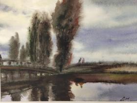 西洋 欧洲 德国 水彩画 028 40x30cm 28x20cm 手绘 原稿 创作时间不详