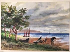 西洋 欧洲 德国 水彩画 029 40x30cm 28x20cm 手绘 原稿 创作时间不详