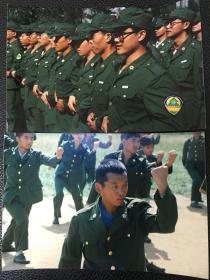 老照片:山东大学九六级学生开学典礼暨军训阅兵式