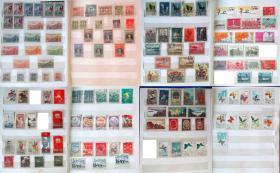 民国邮票、解放区邮票和老纪特邮票一堆
