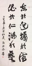 美协主席  范迪安  老师  精品书法66x136cm、带合影 出版画册   买家自鉴