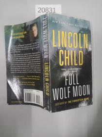 英文原版 平装 32开 【】Full Wolf Moon-Lincoln Child-2018 Jeremy Logan novel-large paperback-comb ship