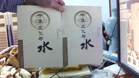 中华文化与水 上下册---靳怀堾(16开,9品)/租屋中-架南1竖-35