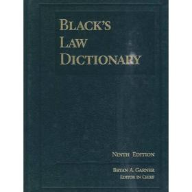 WW9780314199492微残-英文版BLACKS Law Dictionary-Ninth Edition(精装)
