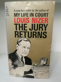 辩护大师路易斯.耐瑟自传 The Jury Returns by Louis Nizer (法律)英文原版书