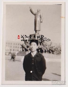 【任6件包邮挂】老照片收藏 沈阳中山广场留影 5.7*4.4cm