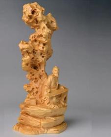 小叶黄杨木雕/高山流水