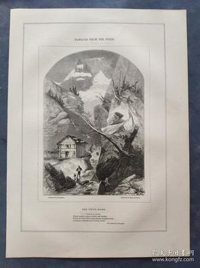 1850年 木口木刻 木版画 (正背印刷)之020号 0605