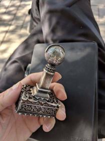 手工银质印章壳套(亚美尼亚)