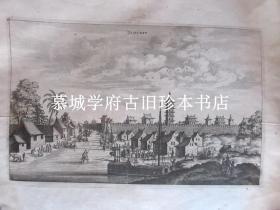 尼霍夫《荷使初访中国记》铜版插图之一《燕京府》(36X29厘米)NIEUHOF: JAMCEFU